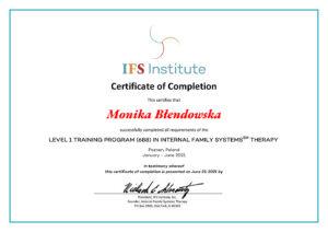 Certyfikat IFS Monika Błendowska